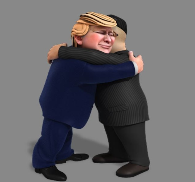 Trump and Kim displayed an initial atmosphere of bonhomie
