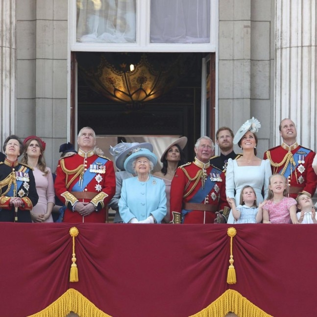 The Royal family at the Trooping the Colours