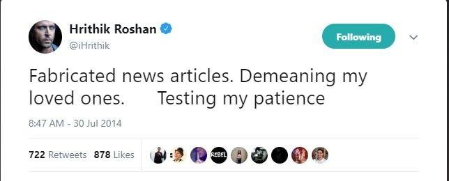 When Hrithik Roshan slammed rumours of Sussanne Khan