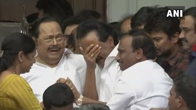 MK Stalin, the working president of the DMK broke down after he learned of the High Court's order