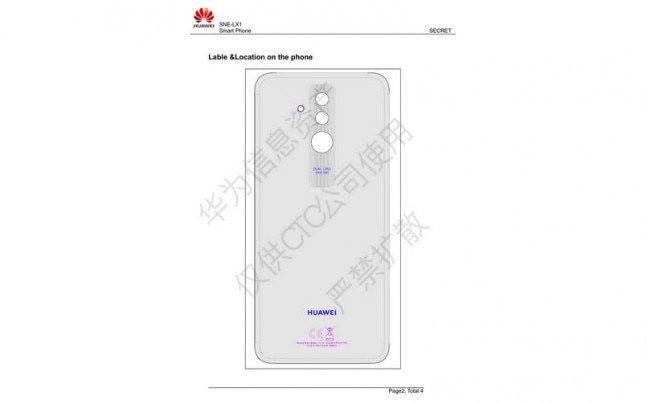 Huawei Mate 20 Lite leaked schematic details reveal dual rear
