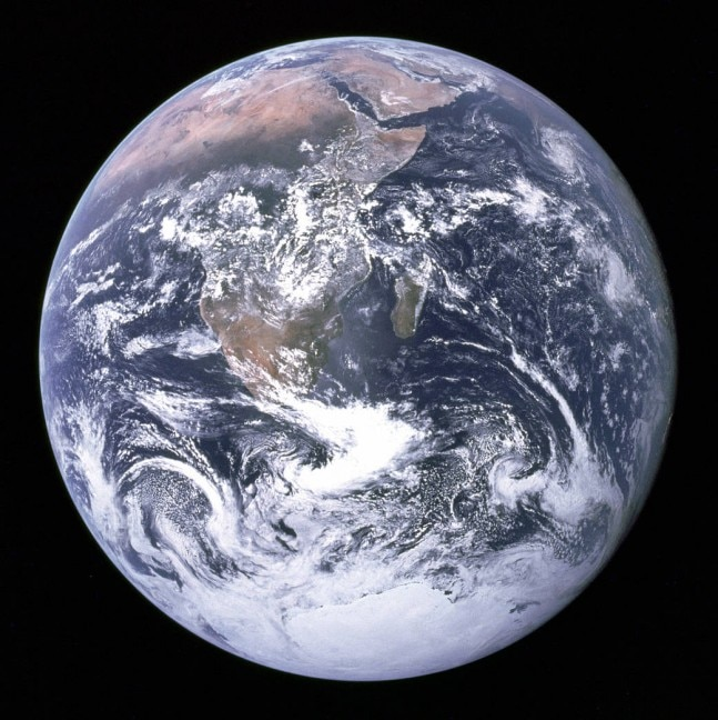 Images of earth from moon