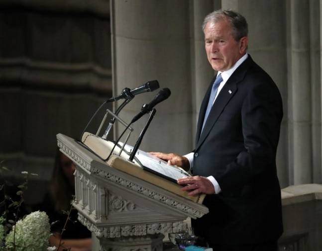 George W Bush did Michelle Obama a favour and it went viral