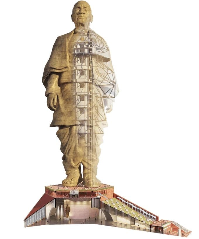 bd864a9cc 22500 mton (22500000 kg) of cement has been used to build the Statue of  Unity.(Image: statueofunity.in)