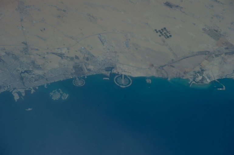 Man-made archipelagos near Dubai