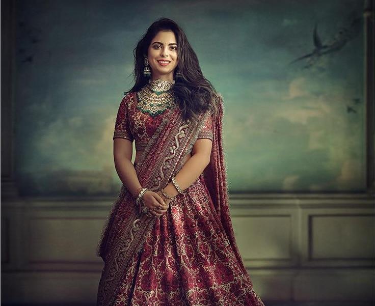 Isha Ambani is an Indian princess in Sabyasachi for pre ...