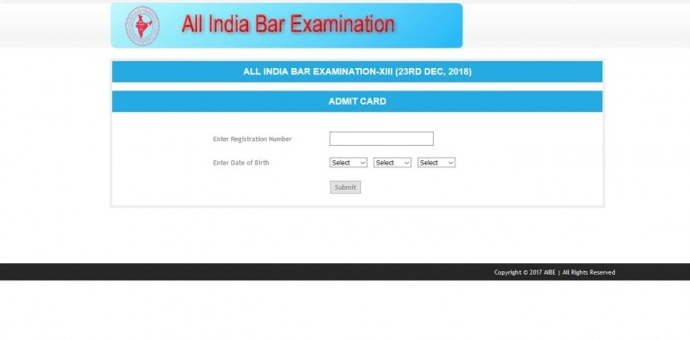 Bar Council of India releases AIBE XIII Admit Cards 2018: 5