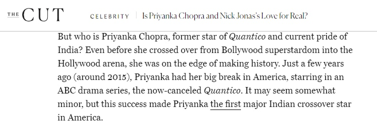 Priyanka Chopra is a global scam artist? No, you are racist