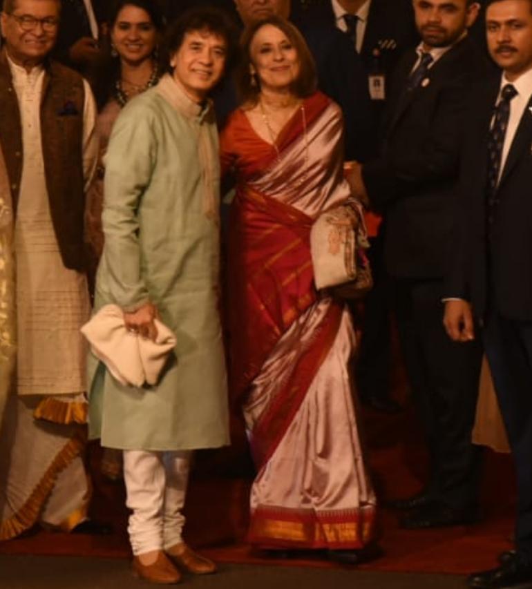 Image result for Isha Ambani's reception on 14th December 2018: Zakir Hussain performing