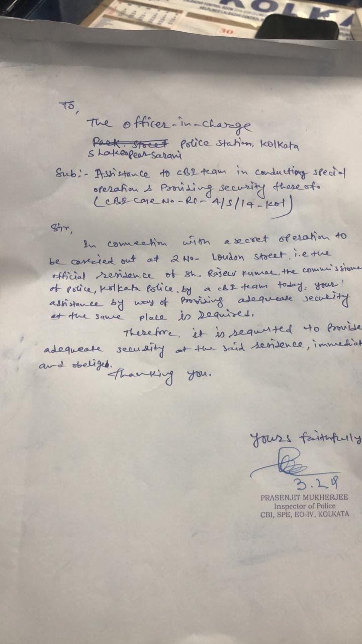CBI vs Mamata Banerjee: Letters show CBI informed Kolkata