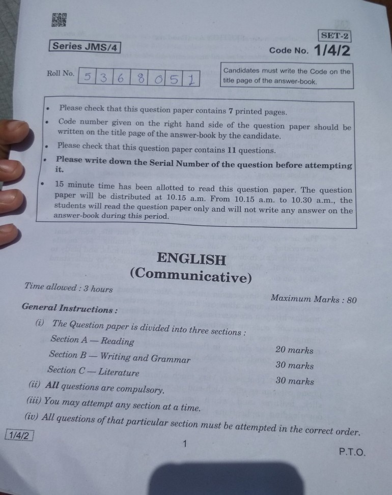 CBSE Class 10 English paper analysis: Easy paper with