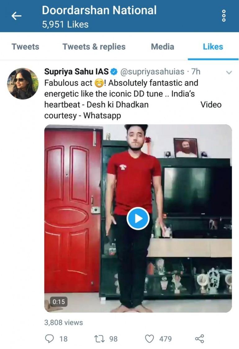 Man break-dances to iconic Doordarshan tune in TikTok viral