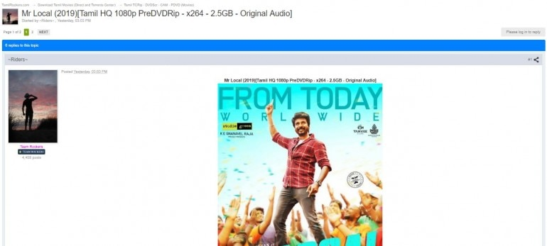 Mr Local full HD movie leaked on TamilRockers  Will it