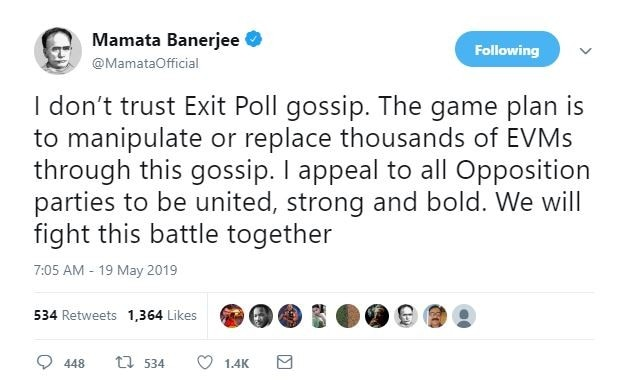 Exit Poll 2019 is gossip, Opposition should stay strong