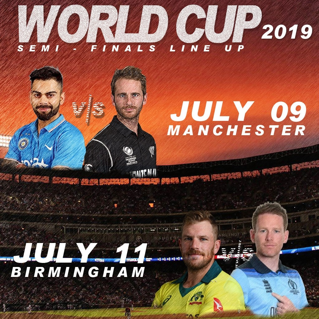 World Cup 2019 semi-finals line-up: India to play New Zealand after