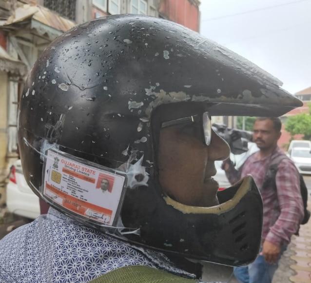 Man Pastes Licence, Bike Documents On Helmet To Beat Motor
