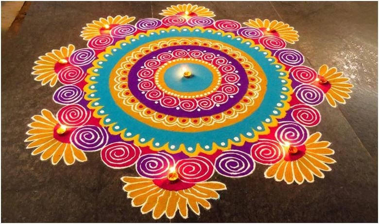 Happy New Year Best Rangoli 91