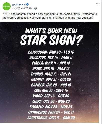 Fact Check Nasa Did Not Introduce A 13th Zodiac Sign Fact Check News