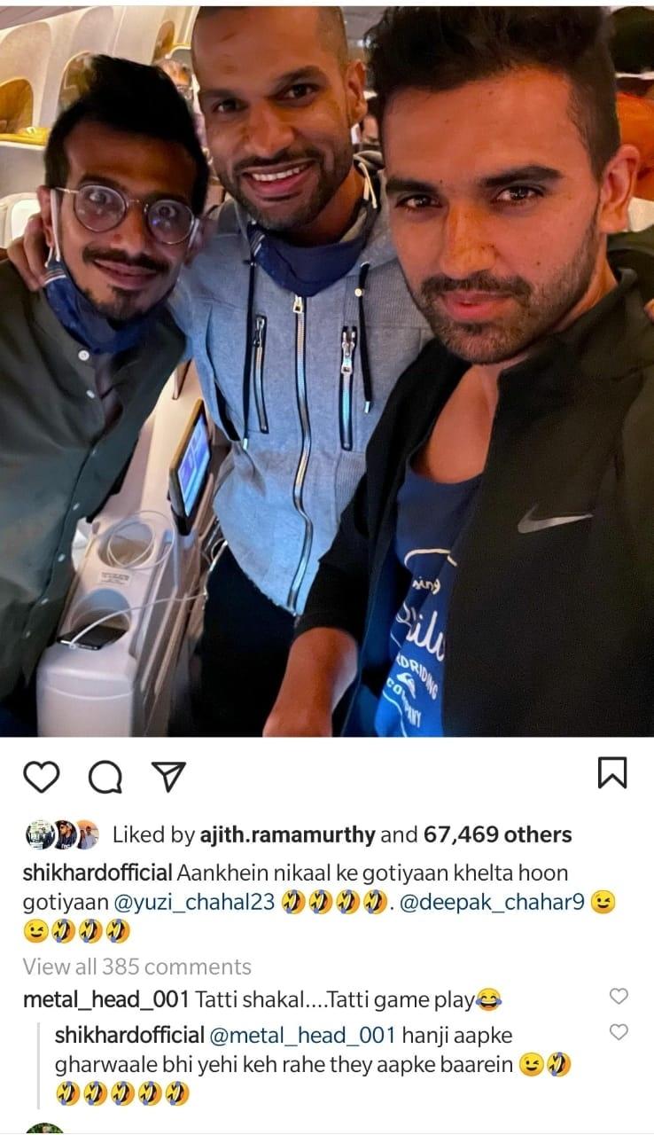'Aapke Gharvaale Bhi Yahi Keh Rahe The Aapke Baare Me'- Shikhar Dhawan Brutally Thrashes A Troll On Instagram