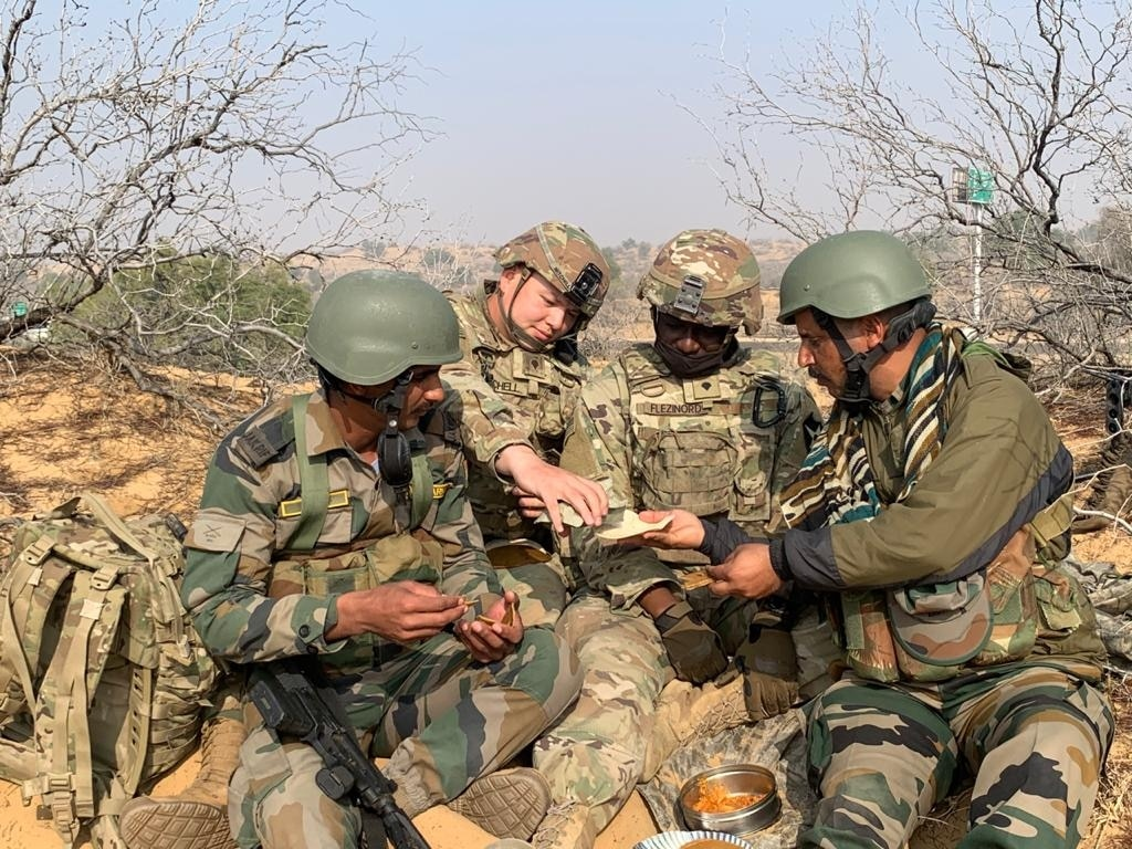 roops from both armies share a meal after an all-night-long operation. (Photo: India Today)