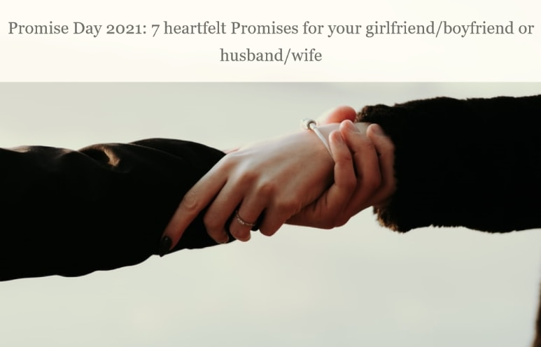 To promises your boyfriend to make 16 Promises