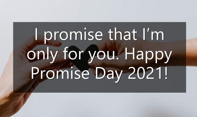 To promises your boyfriend to make Dear Guy: