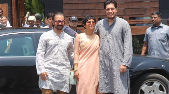 Aamir Khan, Kiran Rao and Junaid (Photo: Yogen Shah)