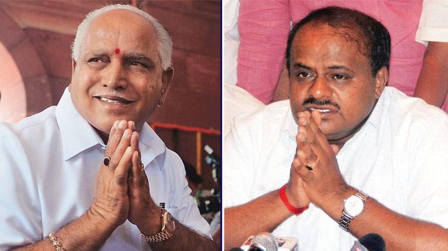 BS Yeddyurappa of BJP and HD Kumaraswamy of the Janata Dal-Secular