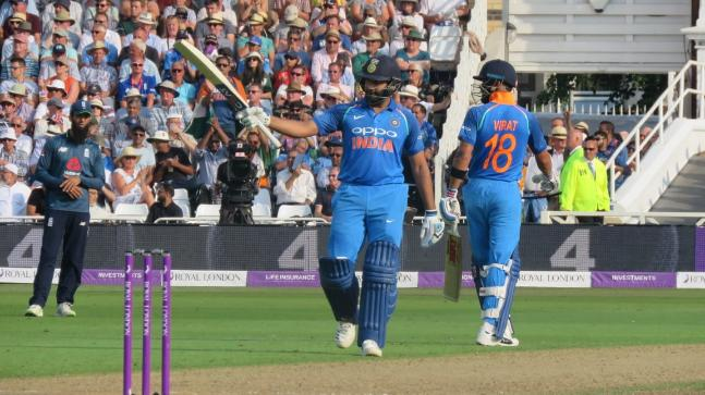 England vs India, 1st ODI: Rohit Sharma got to his 18th hundred with a SIX