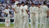 Stuart Broad celebrates after dismissing Murali Vijay