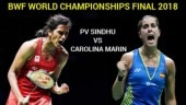 BWF World Championships 2018 final: PV Sindhu will take on Carolina Marin.