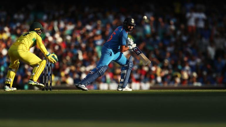 India vs Australia Live Score, 1st ODI: Rohit Sharma brought up his 38th ODI fifty to keep India alive in chase of 289 vs Australia at the SCG (@BCCI Photo)