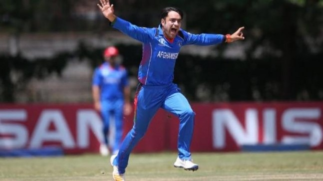 Rashid Khan's presence will make Afghanistan the favourites in the three-match T20I series (@ICC Photo)