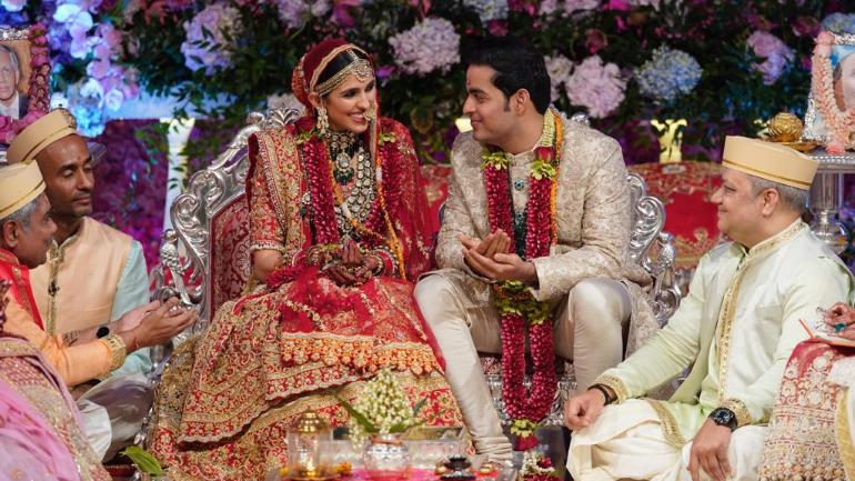 Akash Ambani And Shloka Mehta Wedding First Pics Of The Newlyweds