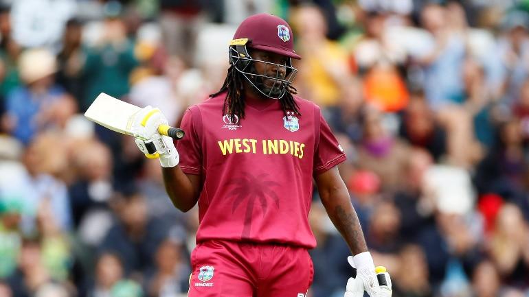 West Indies vs Pakistan Live Cricket Score, ICC World Cup 2019: Chris Gayle celebrates his 52nd ODI fifty (Reuters Photo)