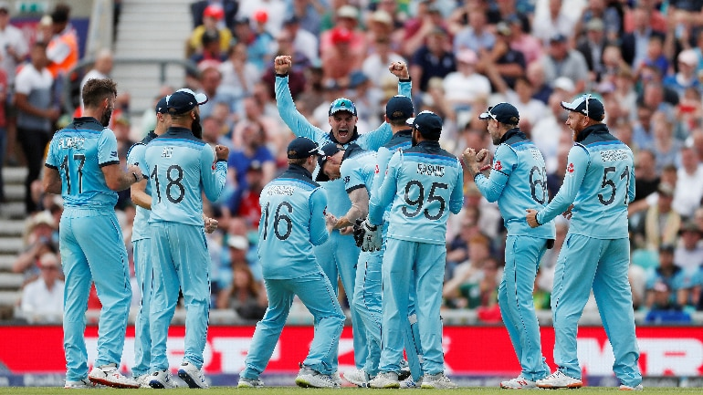 ICC Cricket World Cup 2019, England vs South Africa live score updates: England players celebrate Pretorius's run out (Reuters)