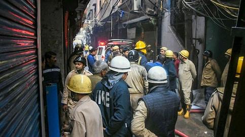 Massive fire at Delhi's Anaj Mandi on Rani Jhansi Road Live Updates (Photo: ANI)