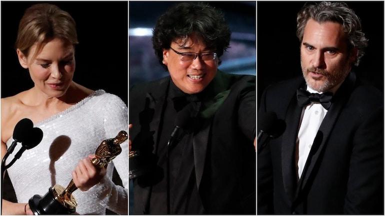 Renee Zellweger, director Bong Joon Ho and Joaquin Phoenix won the biggest Oscars at the 92nd Academy Awards. Photos: Reuters