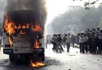 Kolkata auto-rickshaw drivers protest ban