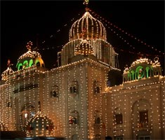 All lit up for Guru Purab