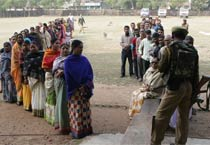 Peaceful polling in Nandigram