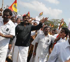 DMDK organises rally for Sri Lankan Tamils