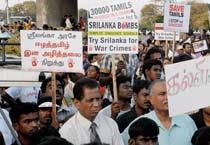 Peace rally against Sri Lanka