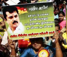 Tamils protest for Lankan cause in New Delhi