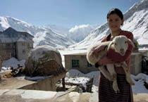 Snowfall in Himachal's Keylong