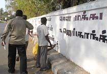 Space race on Chennai walls