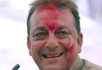 Sanjay Dutt during Holi Milan in Lucknow