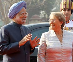Chilean president on India visit