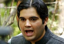 Varun Gandhi faces media