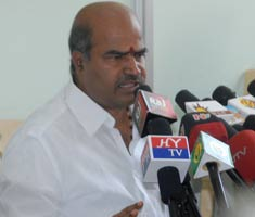 Congress workers protest in Chennai